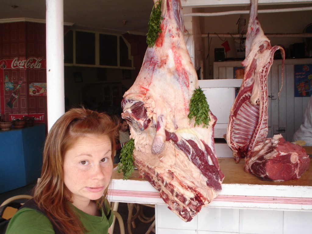 morocco hanging meat food