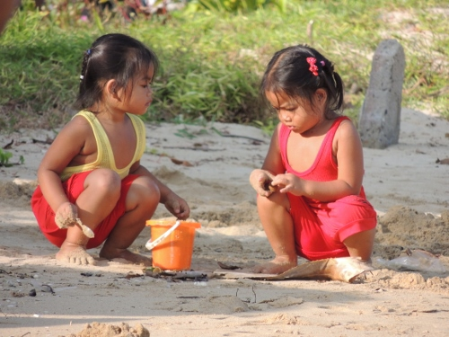 thailand children beach
